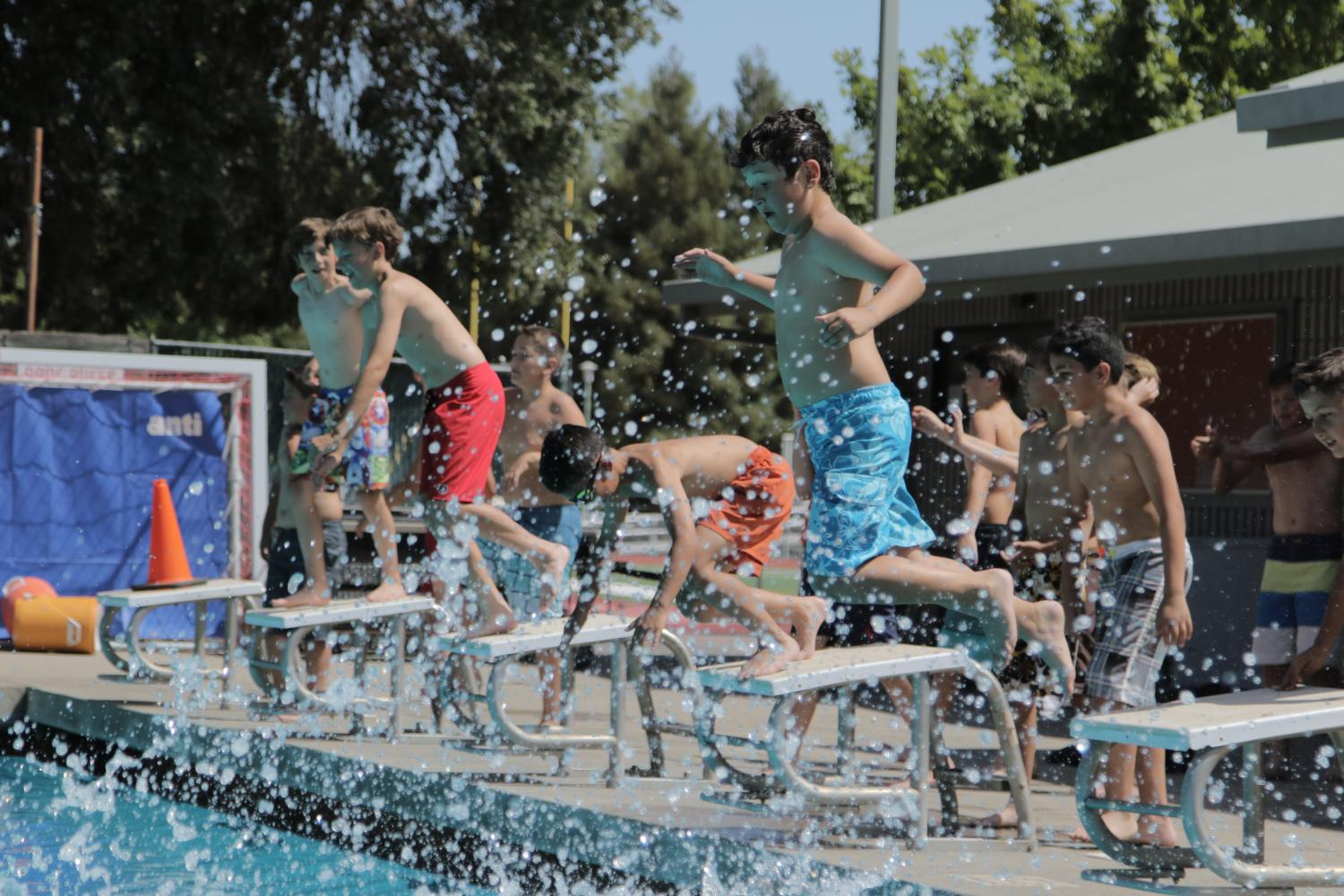 Academics Plus students enjoy pool time | Jesuit Communications