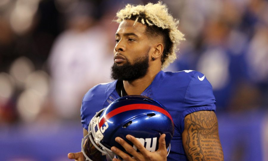Nov 14, 2016; East Rutherford, NJ, USA; New York Giants wide receiver Odell Beckham Jr. (13) during warmups before a game against the Cincinnati Bengals at MetLife Stadium. Mandatory Credit: Brad Penner-USA TODAY Sports