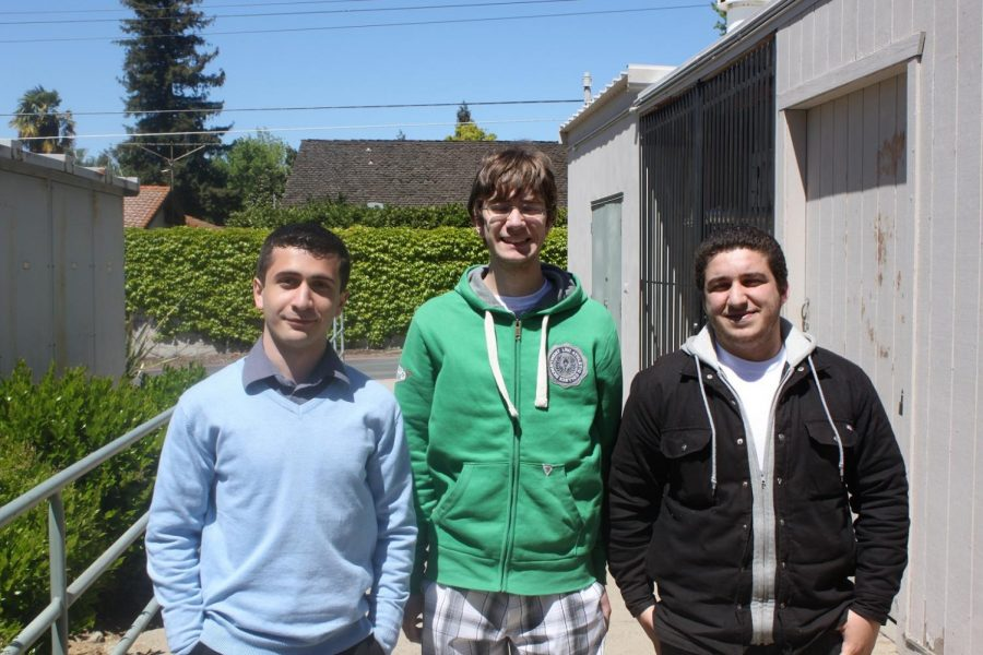 A younger Mr. Lawrence Simon '13 (middle) standing with his cousins Paul Simon '13 (left) and Emanuel Stephen '13 (right)