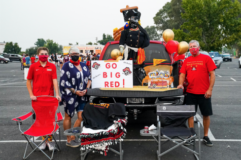 "Jesuit class of 2024 family goes ""BIG"" with ""Marauder Momentum"" car decorating contest during the Jesuit hosted movie night at the West Wind Sacramento 6 Drive-In on Wednesday, Sept. 9, 2020, Sacramento, California."