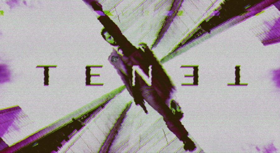 "A poster from the movie ""Tenet"" seen through the eyes of Eliot Pick '22."