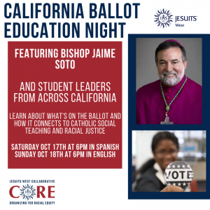 Ballot Education Night connects California Propositions to Racial Equity and Catholic Social Teaching