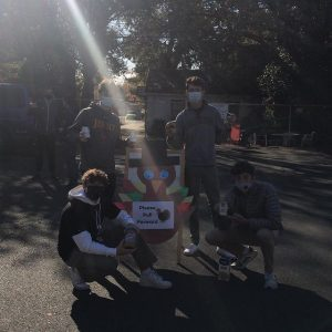 Members of Jesuit's Executive Council at Stanford Settlement for the school's annual food drive on Nov. 21, 2020.