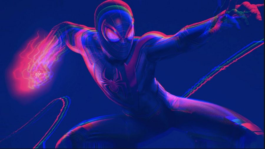 "A cover from ""Marvel's Spider-Man: Miles Morales"" video game seen through the eyes of Eliot Pick '22."