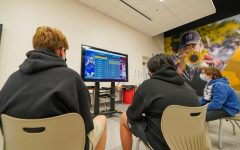 Students competing in Jesuit's NBA2K21 tournament during the school's first Spirit Activity of the semester on Wed., Jan. 13, 2021.